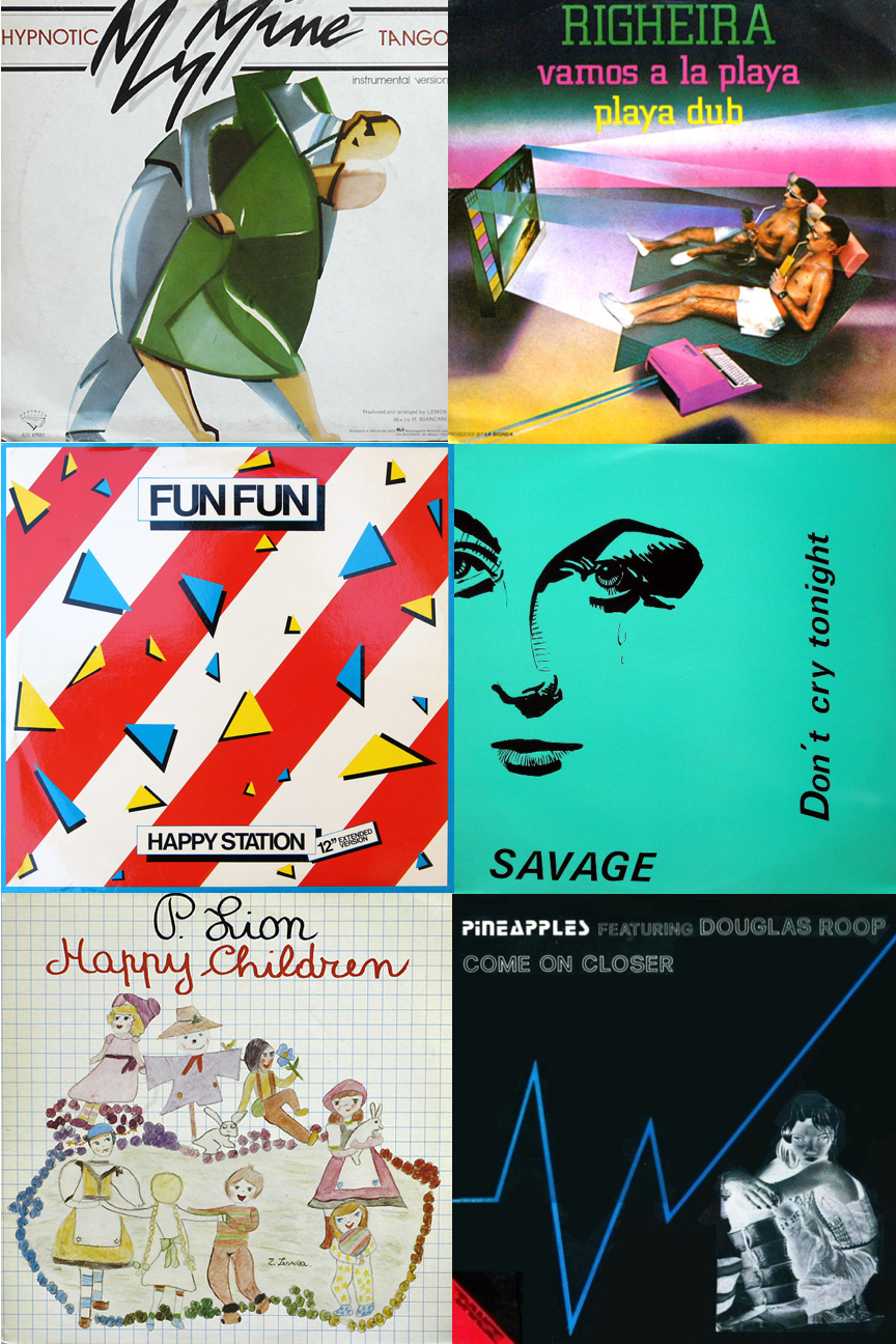 Album covers of singles released in 1983