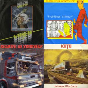 album covers from Italo Disco 1983