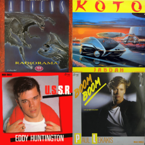 Italo disco record covers from 1986